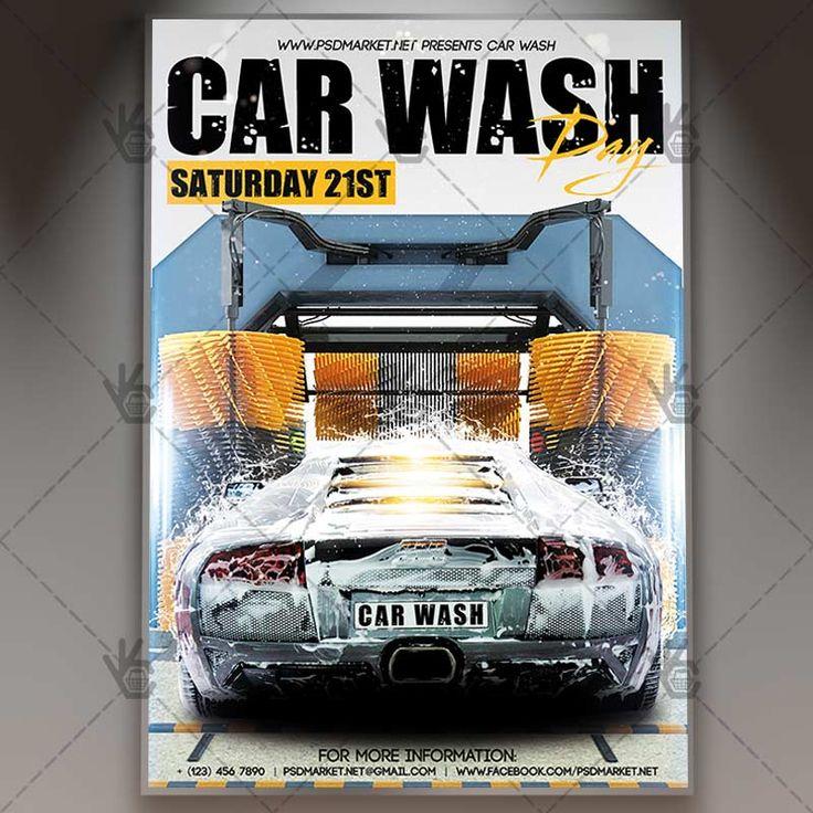 37 best car wash images on pinterest lavado de coches lavado de car wash day premium flyer psd template solutioingenieria Images
