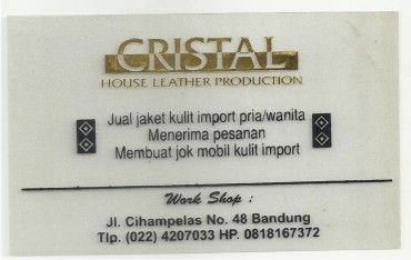 cristal house leather production