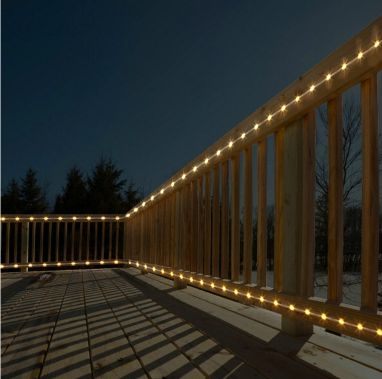 String Lights On Deck Railing : outdoor rope lights for decks Roselawnlutheran
