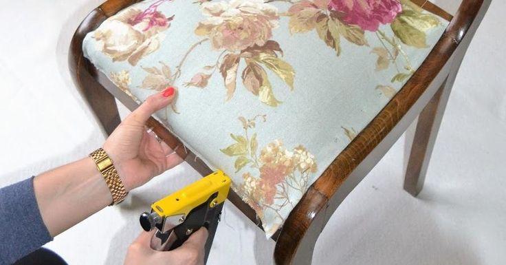 Todos los pasos para tapizar una silla