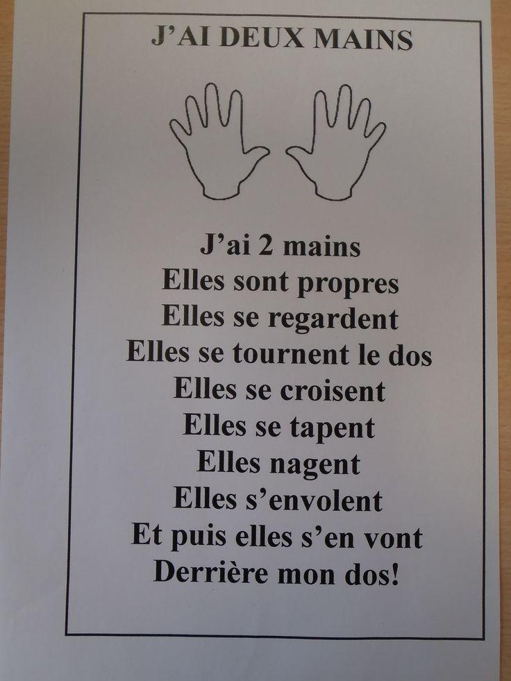 Comptine: j'ai deux mains