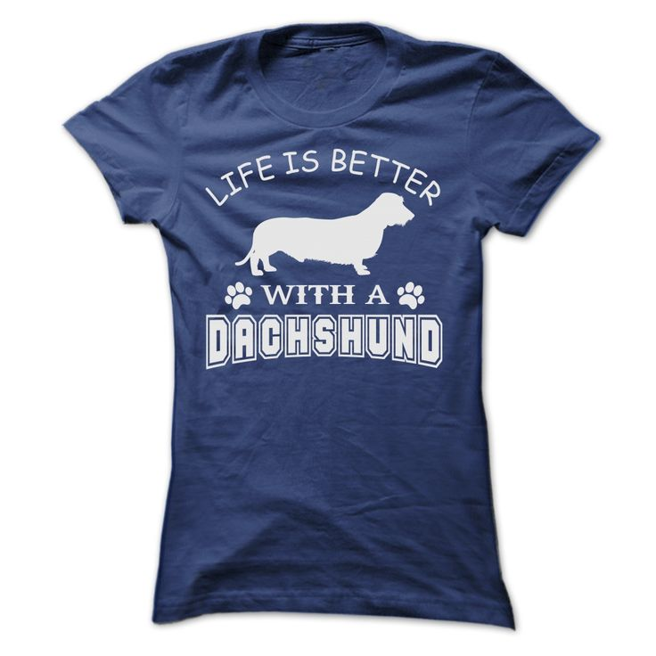 FIND Women's T-Shirt Sausage Dog Motif and Short Sleeves Visa Payment Online O9nad