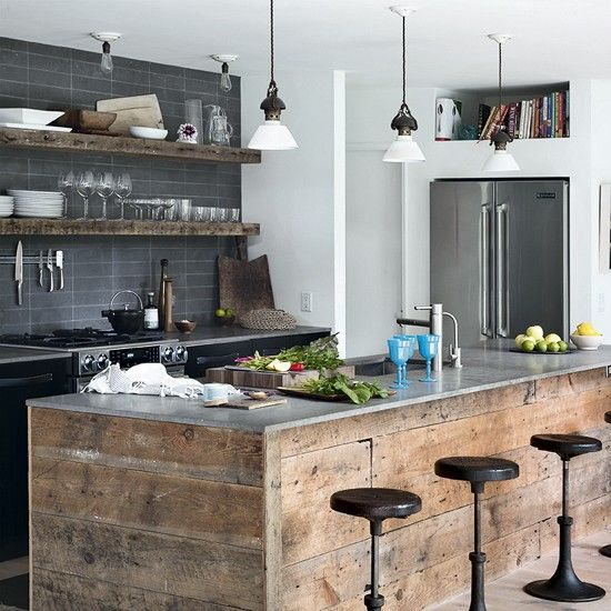 Industrial Meets Rustic In This Kitchen: 25+ Best Stainless Steel Island Ideas On Pinterest
