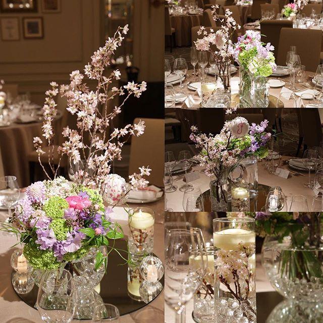 【haru___0312】さんのInstagramをピンしています。 《披露宴会場は大好きなピンク&パープルの春のお花満開 水中花にキャンドルが浮いてたり、花器もいろいろ使ってコーディネート #結婚式 #披露宴 #披露宴会場 #披露宴装花 #会場装花 #テーブル装花  #wedding #flowerarrangement #flowers  #さくら #桜 #ラナンキュラス #デルフィニウム #スノーボウル #スィートピー #ライラック》