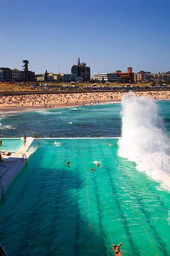 Swimming Pool at Bondi Beach Sydney New South Wales Australia by Mark Sunderland, via Flickr