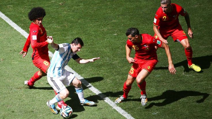 Messi was frustrated at times but still played an influential part in Argentina's win over Belgium.