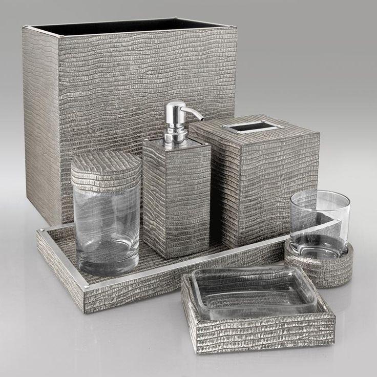 beverly hills luxe designer silver lizard bathroom set trending hollywood home