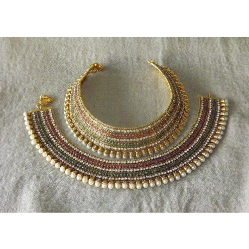 Online Shopping for Multi-Coloured Layered Bridal Payal | Anklets | Unique Indian Products by Bhamini Jewellery