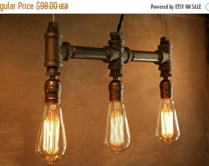 25 % style industriel urbain OFF vente 3 ampoule - classique Edison ampoule fer tuyau luminaire - Eclairage - Style Loft New york city