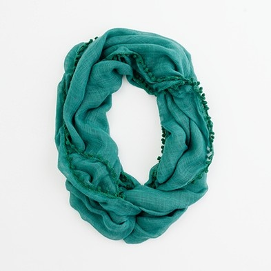 J. Crew Factory tube scarf with bubble trim $34.50