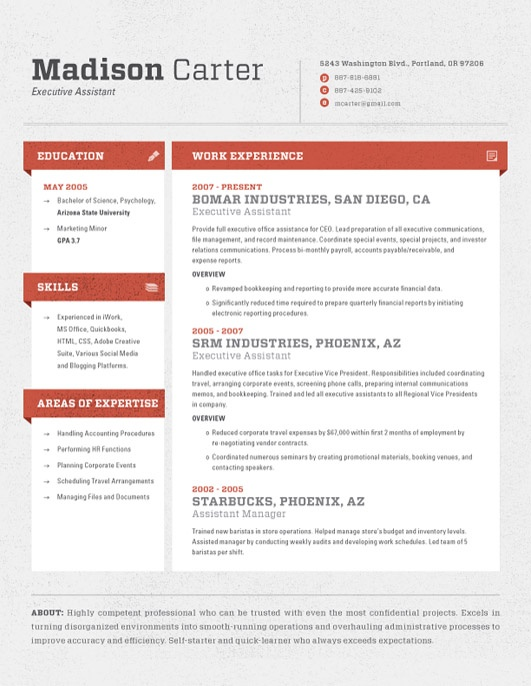 Amazing Pinterest Idea Contemporary Resume
