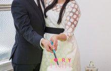 Neon geometric wedding #weddingcake