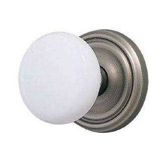 pewter ice white porcelain privacy door knob set - Closet Door Knobs