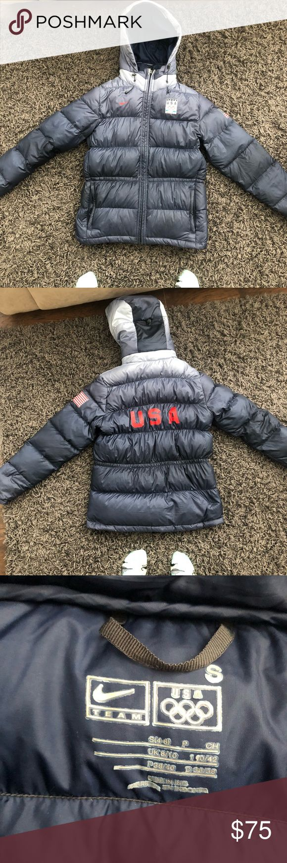 Team USA Nike winter jacket Authentic Team USA Nike winter jacket from the 2010 Vancouver Winter Olympics. In used, but good condition. Nike Jackets & Coats Puffers