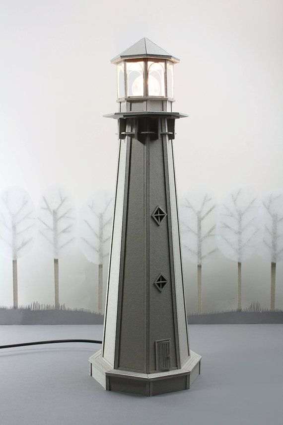 Cardboard Lighthouse Lamp an enchanting bedside por LifeInCardboard, $399.00