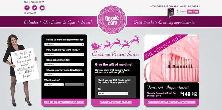 Flossie has had a mini makeover! Check out our new homepage at www.flossie.com xx
