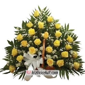 Kollu Sepette 24 Sarı Gül  136,00tl + kdv    http://www.hizlicicekal.com/cicekler/cicekciler/cicek/70/kollu-sepette-24-sari-gul/