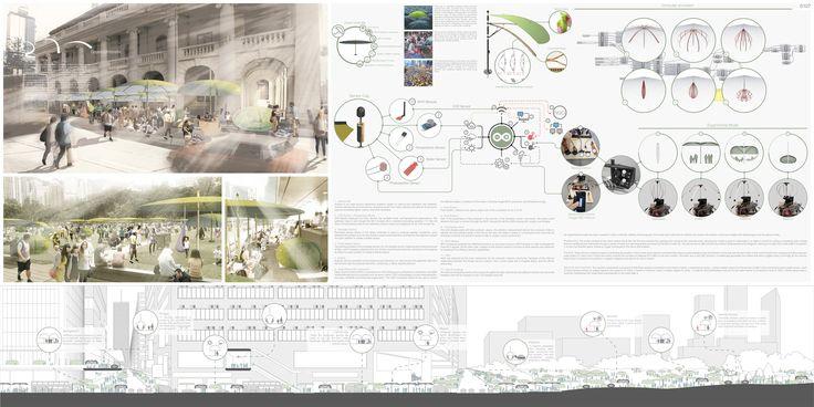 "HONORABLE MENTION REG. NO. 0107 ""Green Umbrella"" by Dr. Hee Sun (Sunny) Choi (Urban Designer), Jorge Sainz de Aja Curbelo (Architect, Urban design researcher), Tony Chiu Cheuk Lun (Design Assistant), Eason Yeung Kit (Design Assistant)"