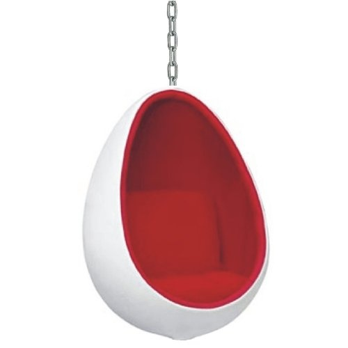 The fiberglass egg shaped hanging chair remains as cutting for Diy hanging egg chair