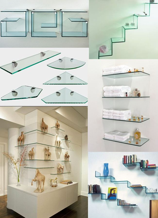 Decorative Corner Glass Shelf Bathroom Tempered Glass Corner