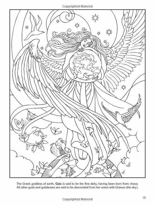 wiccan coloring pages - triple goddess coloring page coloring pages