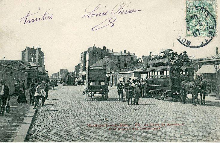 Panorama de Portes de Paris, fortifications et enceinte de Thiers : porte de Montreuil
