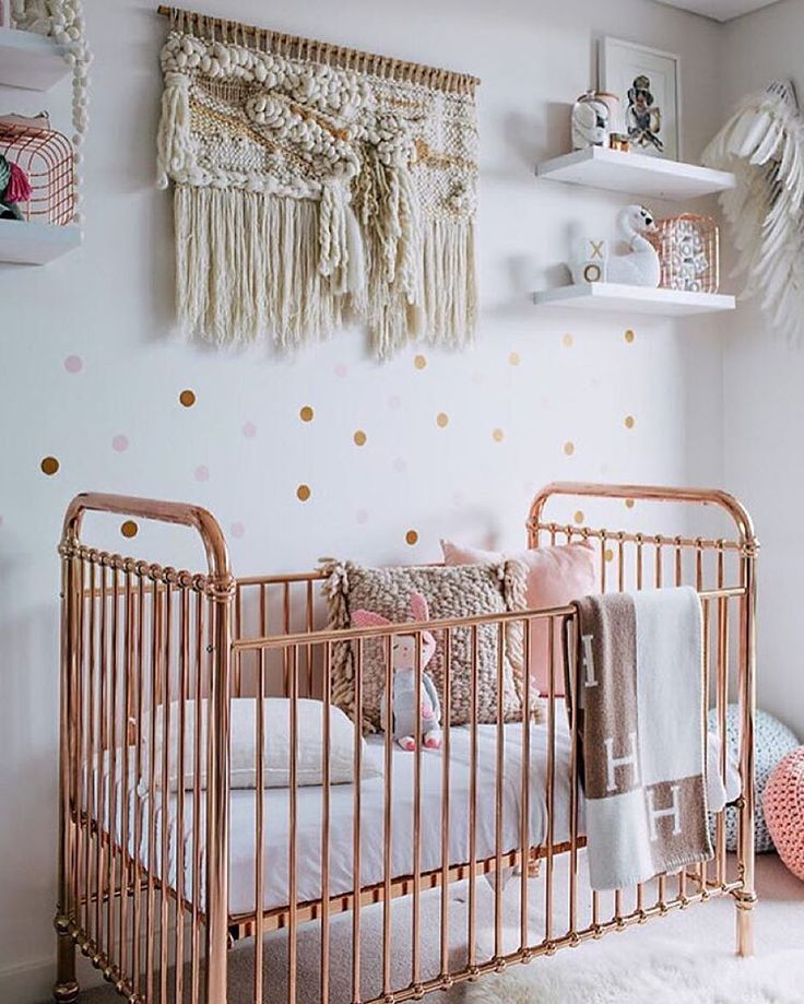 "100 Layer Cakelet on Instagram: ""Copper crib. Discuss. [regram of this beautiful nursery from @whatwillowwears]"""