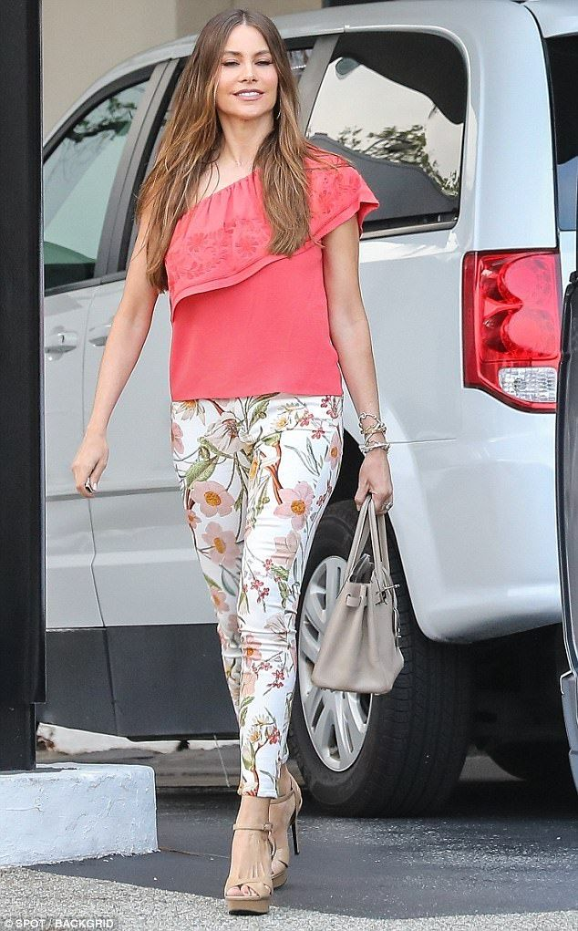 Sofia Vergara looks elegant in floral during day two of shopping spree