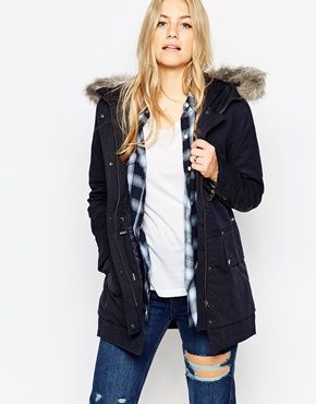 Parka London Rain Parka With Faux Fur Hood Fashion