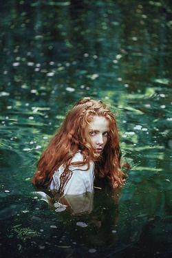 photography red hair long hair curly hair mermaid fairy tales Freckles Ines Rehberger