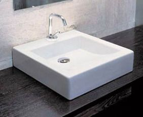 Lavabo Boxo 1060 Håndvask 43x44.5 cm Hvid m/Hanehul