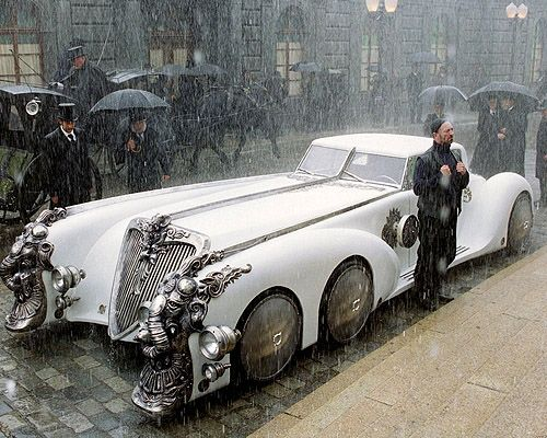Nemo's car, The Nautilus from The League of Extraordinary Gentlemen. 22 feet long, 9 ft wide (not street legal).  It was made from an adapted Land Rover chassis and Rover V8 engine.