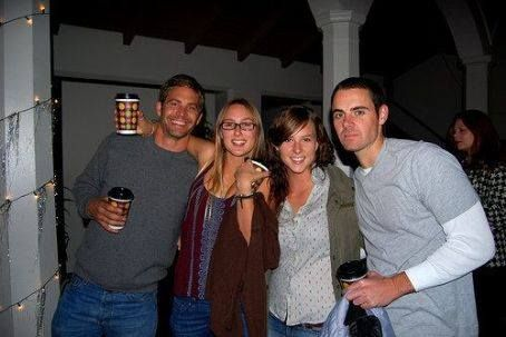 Paul Walker and Jasmine Gosnell with a couple of friends.