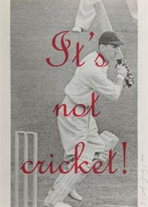 It's Not Cricket | Sanders of Oxford