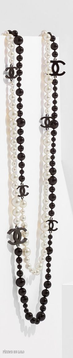 Black and white Chanel necklace. Would go with any outfit! Love it!