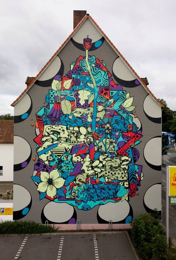 SOBEKCIS New Mural in Bielefeld Germany 2014 | GRAFFART