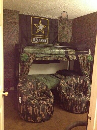 This is our boys room we did as army theme for Christmas   Looks awesome. 14 best military images on Pinterest   Camo rooms  Army decor and