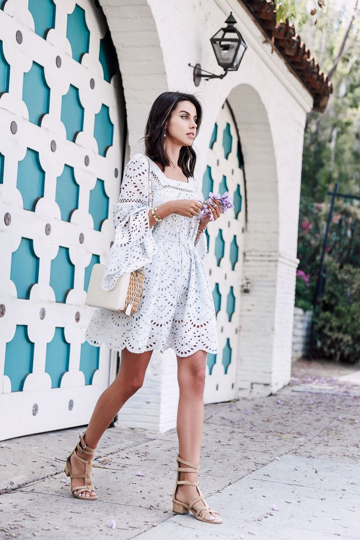 cut out dress with gladiator sandals