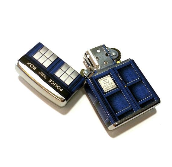 Doctor Who TARDIS Zippo Lighter by whimsyandink on Etsy, $39.95