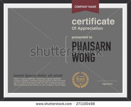 14 best Certificate design images on Pinterest Certificate - certificate designs free