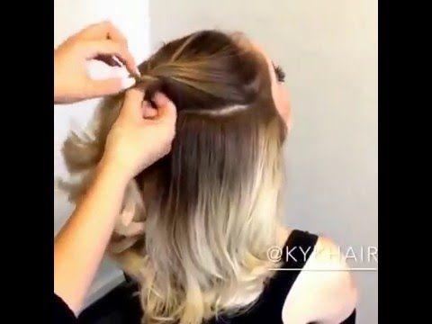 Супер легкая и красивая прическа на длинные и короткие волосы за 1 минуту - YouTube