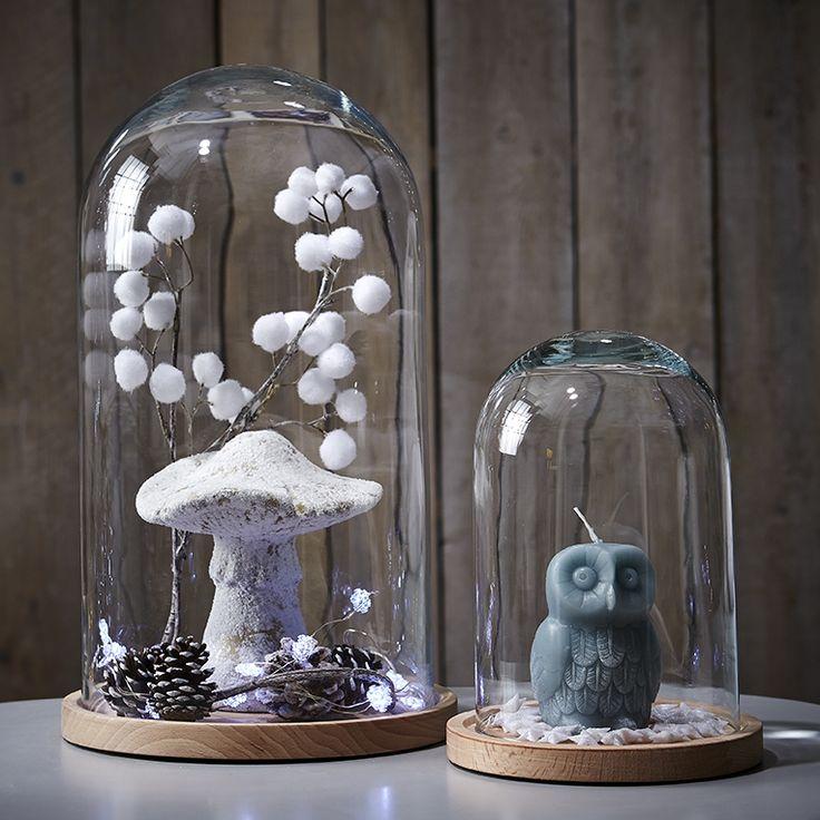 Les 25 meilleures id es de la cat gorie cloche en verre deco sur pinterest - Cloche en verre avec socle ...