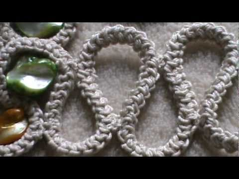 Video tutorial on making a crochet cord ~ for Romanian Point Lace crochet, Irish crochet and free-form crochet.