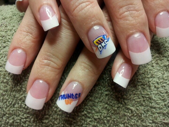 Pinterest nail designs 11 free hand okc thunder shield prinsesfo Image collections