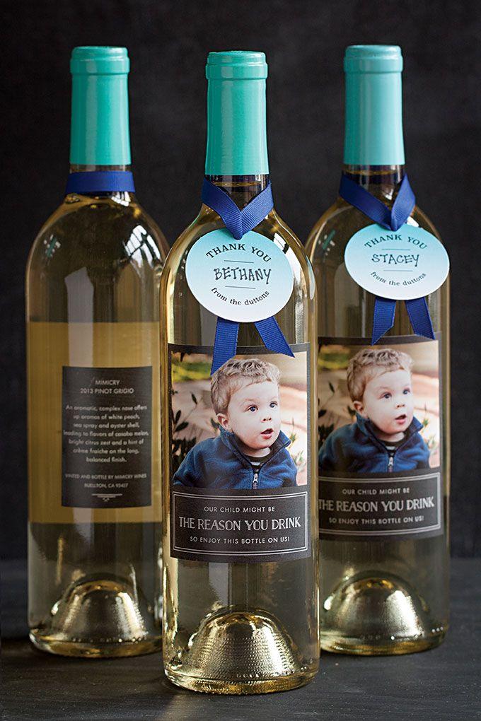 Teacher Appreciation Gift Idea: Personalized Wine Bottles ...
