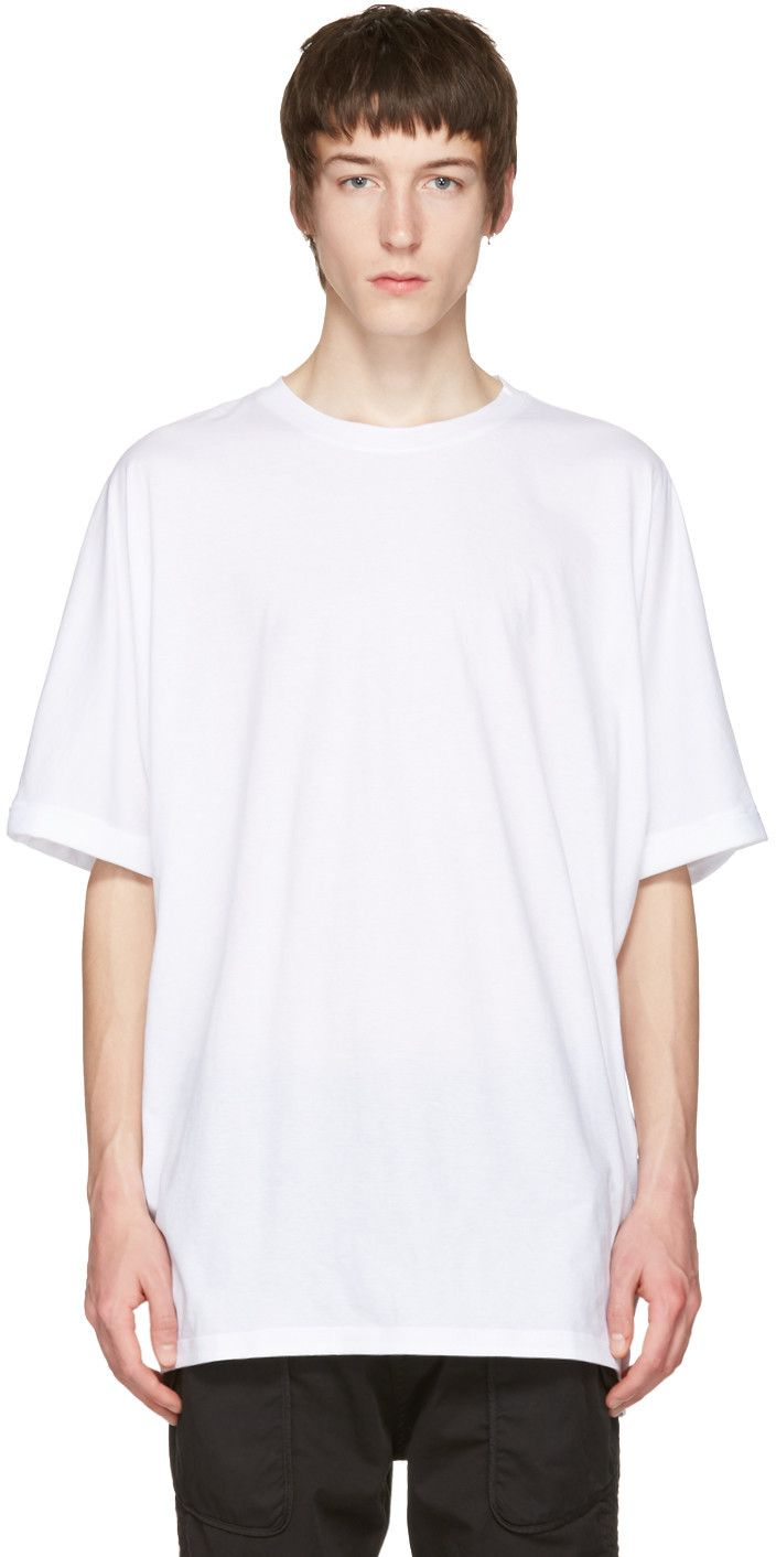 HELMUT LANG White Uni Sleeve T-Shirt. #helmutlang #cloth #t-shirt