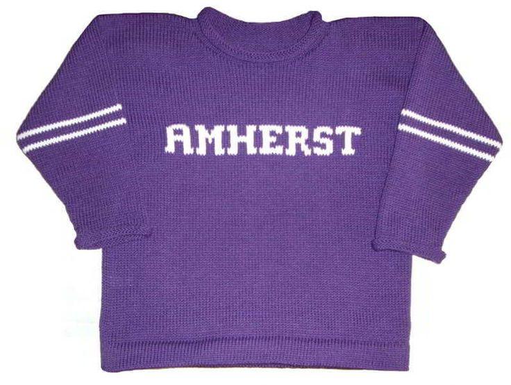 Amherst University Sweater Amherst University Alumni Sweater [AMHERST] - $58.95 | Custom Knits for Baby