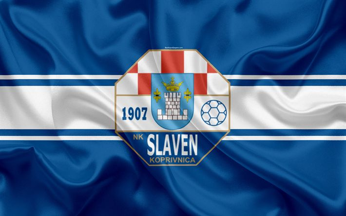 Descargar fondos de pantalla NK Slaven Belupo, 4k, croata de fútbol del club, emblema, logo, futbol americano, bandera, HNL, croata Primera Liga de Fútbol, Koprivnica, Croacia, Slaven Belupo FC
