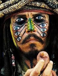 Maquillaje Jack Sparrow canibales