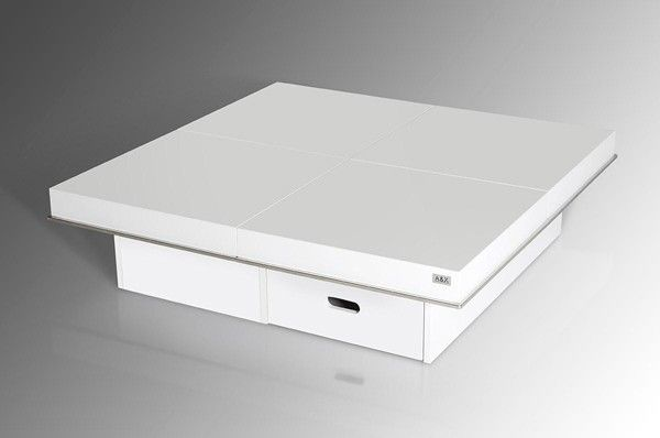 Vig Furniture - A&X Horizon - Modern White Gloss Coffee Table with Pull Out Squares - AK856-120 - VGUNAK856-120-WHT